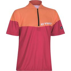 500 Kids' Short Sleeve Cycling Jersey - Red