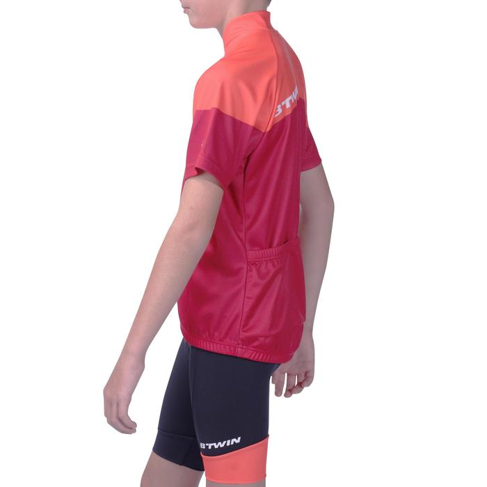 Kurzarm-Radtrikot 500 Kinder rot/orange