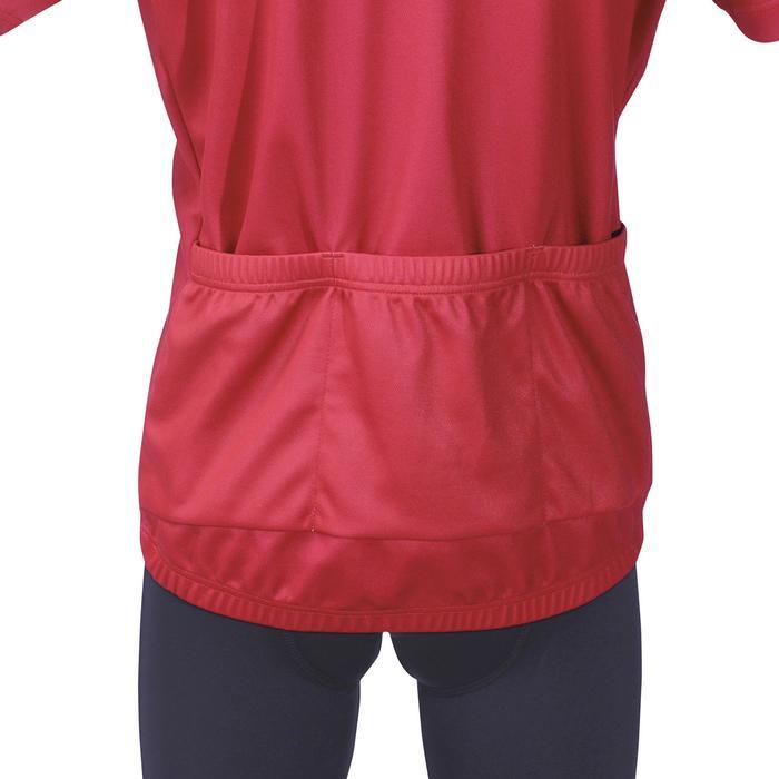 Fietsshirt korte mouwen kinderen 500 rood