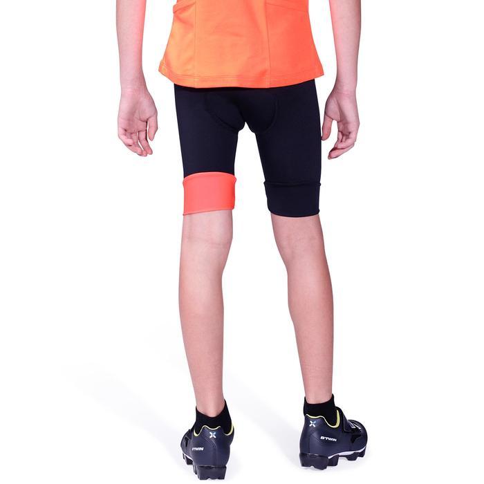 Cuissard sans bretelle vélo enfant 500 noir/rouge - 955470