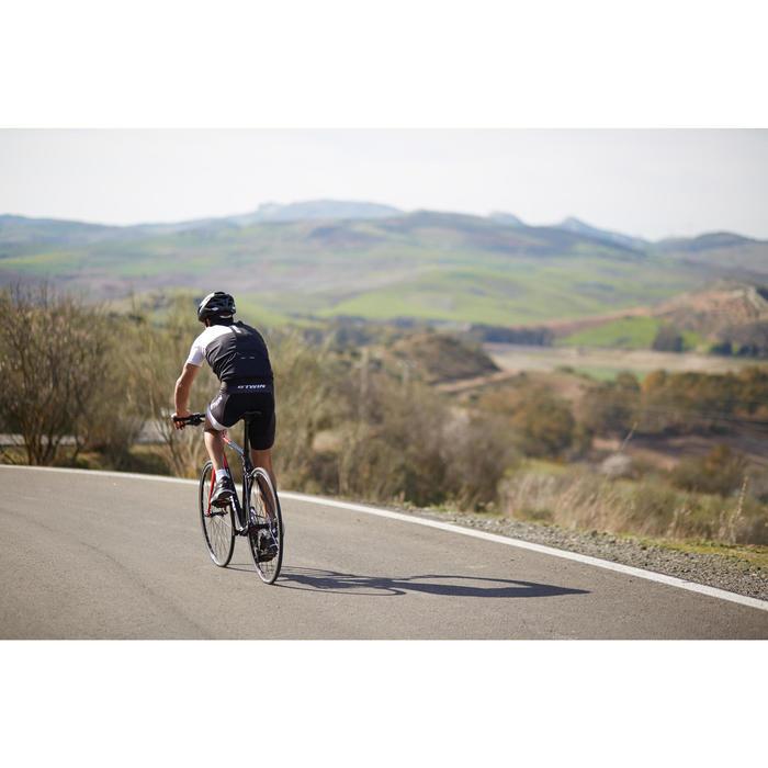Kurze Fahrrad-Trägerhose Rennrad 900 Herren schwarz