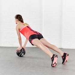 Short 2 in 1 fitness cardio dames zwart/roze Energy+ - 956422
