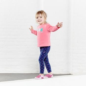 Baby Printed Gym Leggings - Pink
