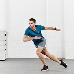 T-shirt fitness cardio heren geel met opdruk ENERGY - 956450