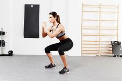 Fitnessbeha Shape+ voor dames gemêleerd - 956472