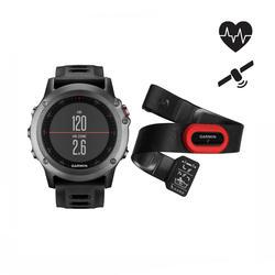 Multisport gps-horloge met hartslagband Fenix 3 Performer grijs