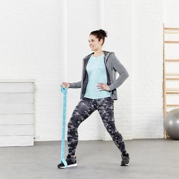 Legging 7/8 FIT+ 500 slim Gym & Pilates femme noir - 956737