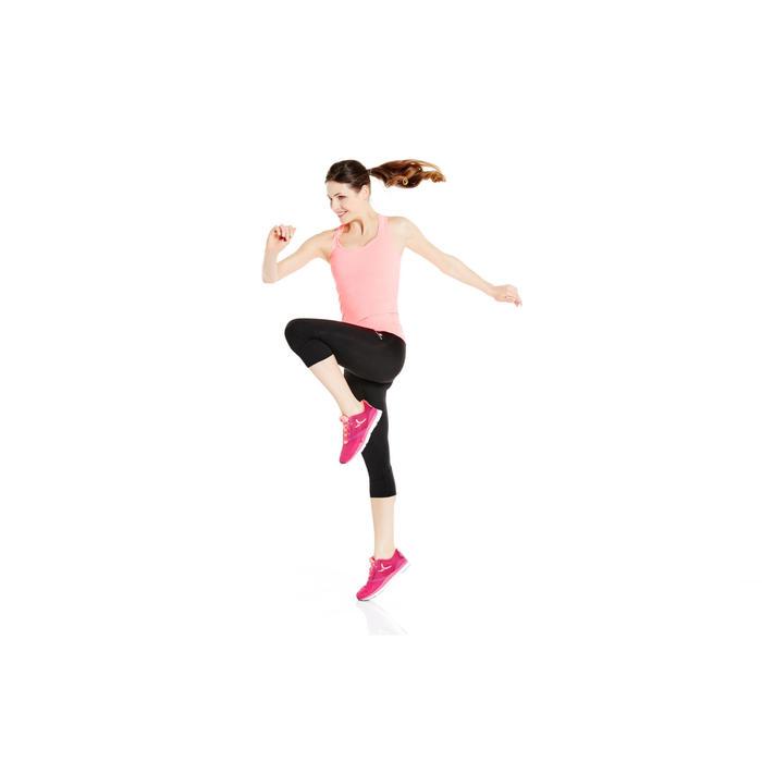 Fitness top My Top 100 voor dames, roze