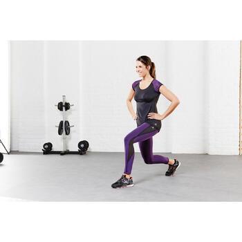 T-shirt galbant SHAPE+ fitness femme noir et violet - 956762