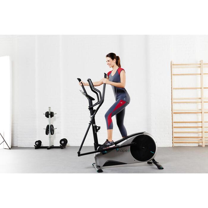 T-shirt galbant SHAPE+ fitness femme noir et violet - 956792