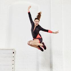 Short 2 in 1 fitness cardio dames zwart/roze Energy+ - 956815