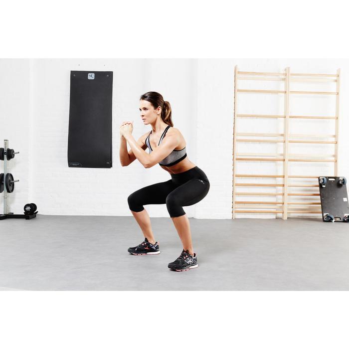 Brassière fitness cardio femme gris chiné Shape - 956831