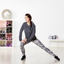 Dameshoodie voor gym en pilates gemêleerd - 956844