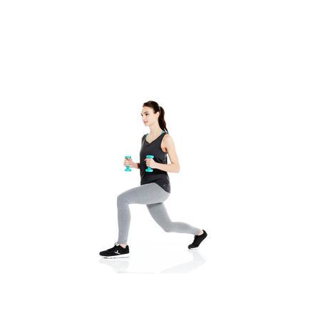 Débardeur 100 Pilates Gym douce femme blanc   Domyos by Decathlon c83adc4668db