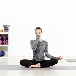 Naadloos T-shirt Yoga+ met lange mouwen voor dames - 956873