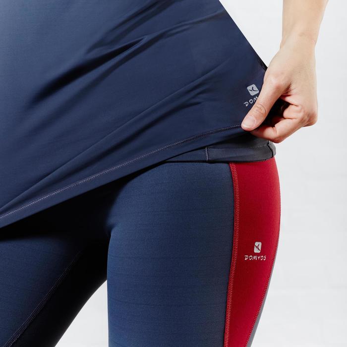 Legging 7/8 galbant cuisse et effet ventre plat fitness femme noir Shape + - 956880