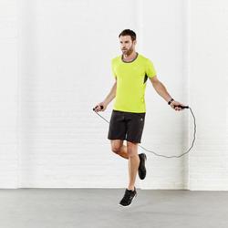 T-shirt fitness cardio heren geel met opdruk ENERGY - 956900