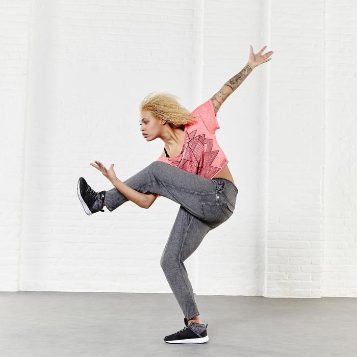 T shirt court danse femme gris chiné foncé. - 956903