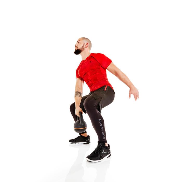 Kettlebell Cross Training Musculación Domyos 16 Kg Negro/Naranja