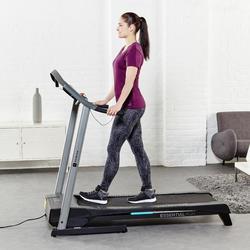 Dames T-shirt met korte mouwen voor gym en pilates, regular fit, gemêleerd - 956916