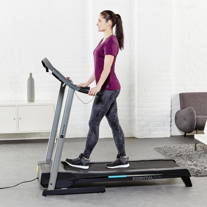 T-Shirt 500 regular Pilates Gym douce femme noir
