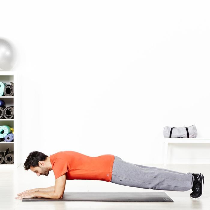 T-shirt 500 regular fit pilates en lichte gym heren zwart