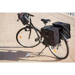 Dubbele fietstas 500 2 x 20 l zwart