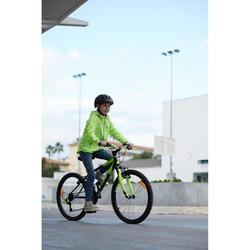 Fahrradregenjacke City 500 Kinder gelb
