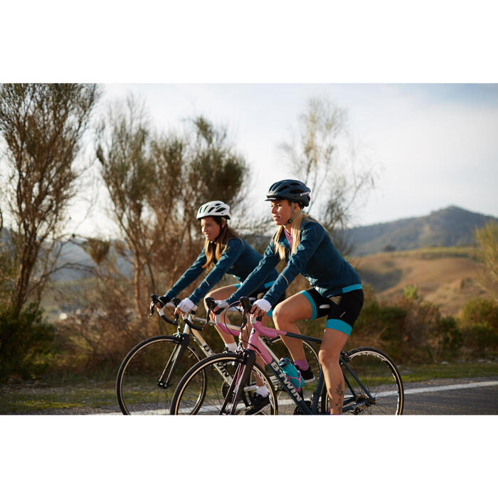 Gants vélo femme ROADC 100 BLANC - 959176
