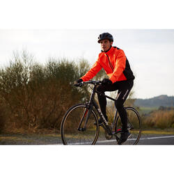 Fahrradjacke 100 Herren orange