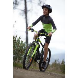 Fahrradtrikot Langarm Kinder 900 gelb