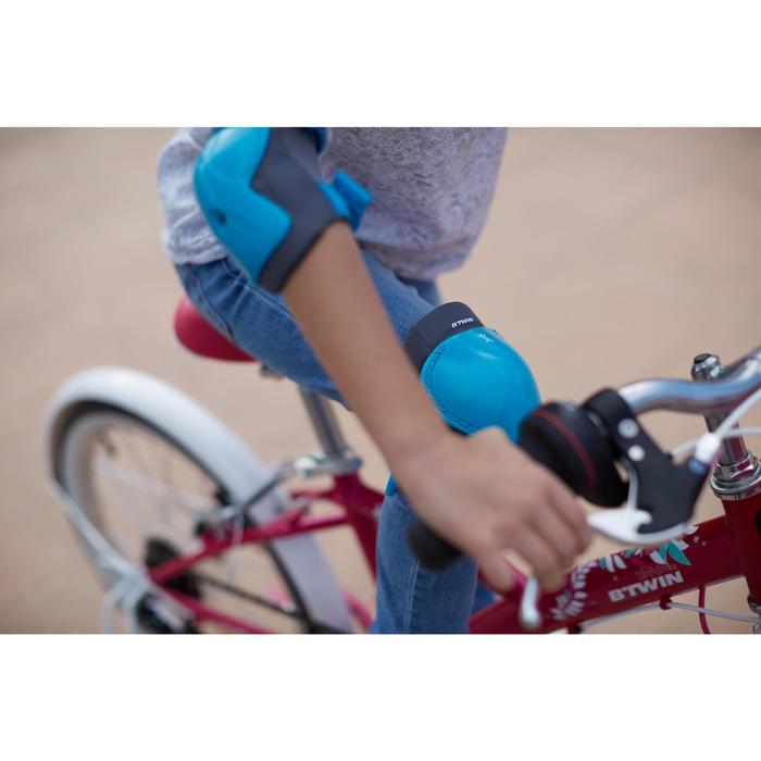 Protektoren-Set Fahrrad XS Kinder blau