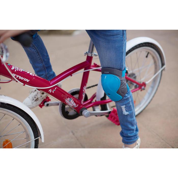 Protektoren Set Kinder Fahrrad XXS blau