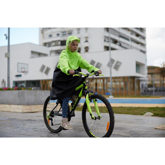 Fahrradregenponcho City 900 Kinder schwarz/neongelb