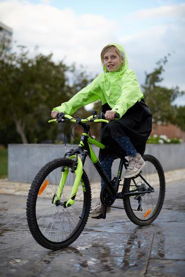 Poncho vélo ville 900 enfants jaune noir