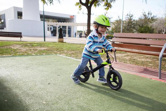Draisienne enfant 10 pouces Run Ride Noir Jaune VTT
