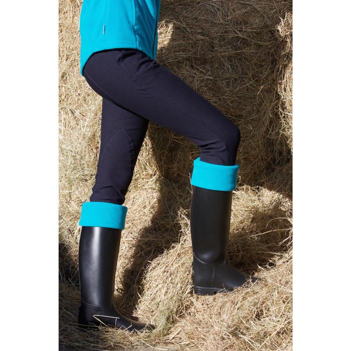Forro polar para botas de equitación adulto azul turquesa