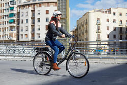 Warme fietsregenjas 900 dames reflecterend - 962575
