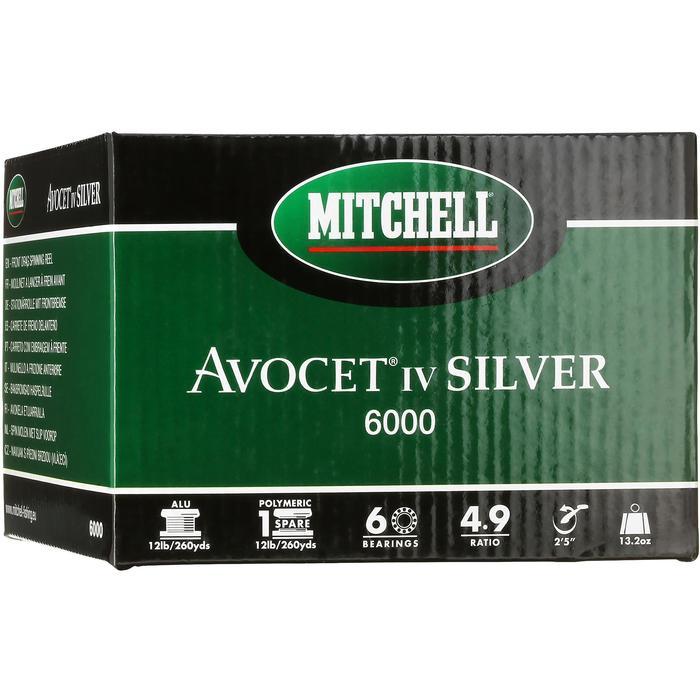 MOULINETS PÊCHE MI LOURDS AVOCET IV SILVER FD 6000