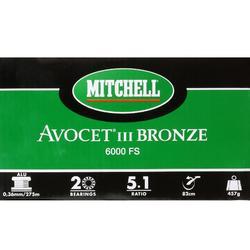 MOULINET PÊCHE AVOCET BRONZE FREESPOOL 6000