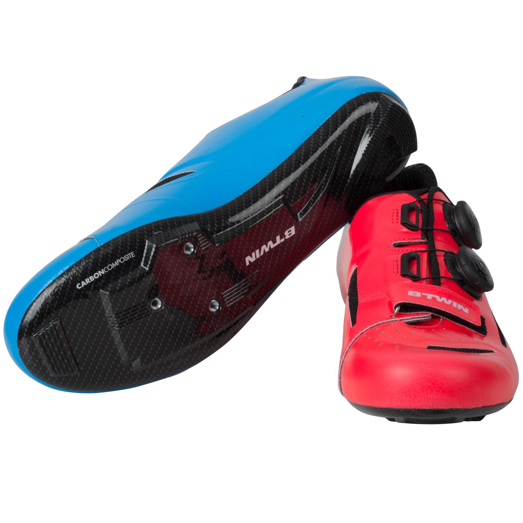 Fahrradschuhe Rennrad 900 Aerofit Carbon schwarz/blau | Schuhe > Sportschuhe > Fahrradschuhe | Rot - Rosa - Blau - Türkis | B´twin