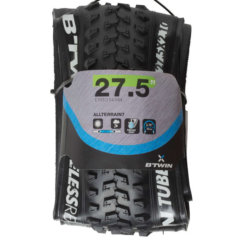 MIXTE TERRAIN MTB TYRES Cycling - 27.5x2.00 All Terrain 7 Tubeless Ready Mountain Bike Tyre ROCKRIDER - Cycling