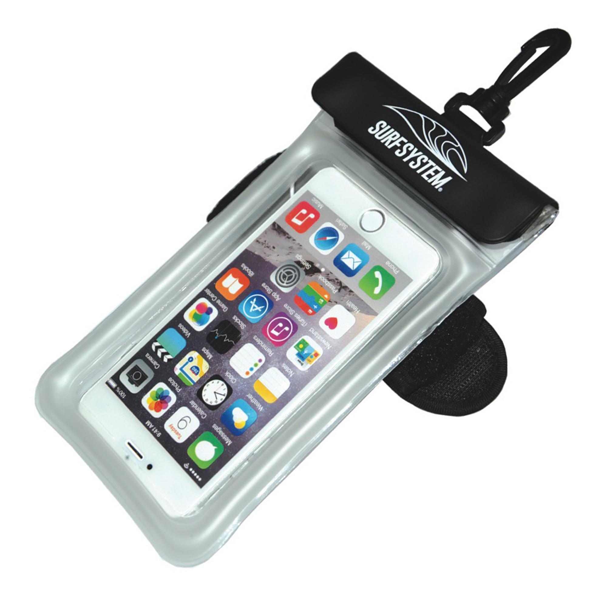 Waterdicht en drijvend gsm-zakje met strap en aansluiting voor oortjes