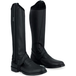 Classic 140 Adult Horse Riding Synthetic Half Chaps - Black