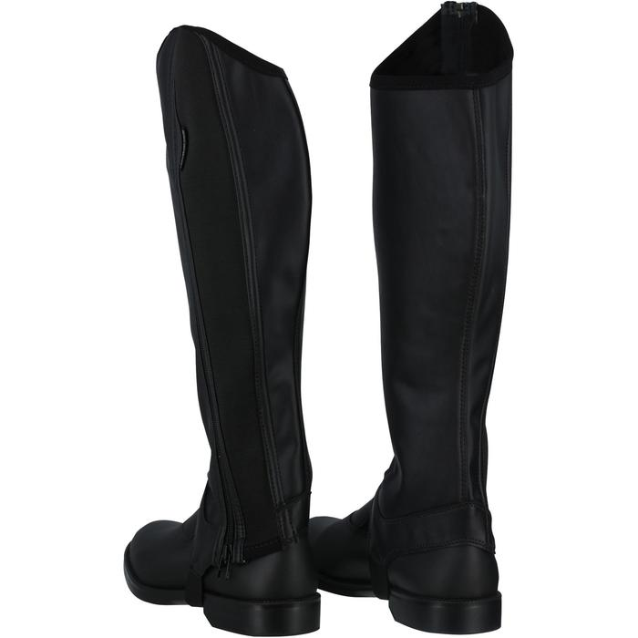 Mini-chaps équitation adulte CLASSIC 100 synthétique noir - 963856
