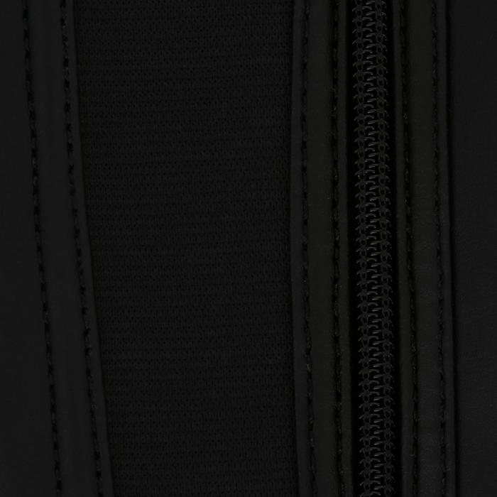 Mini-chaps équitation adulte CLASSIC 100 synthétique noir - 963857