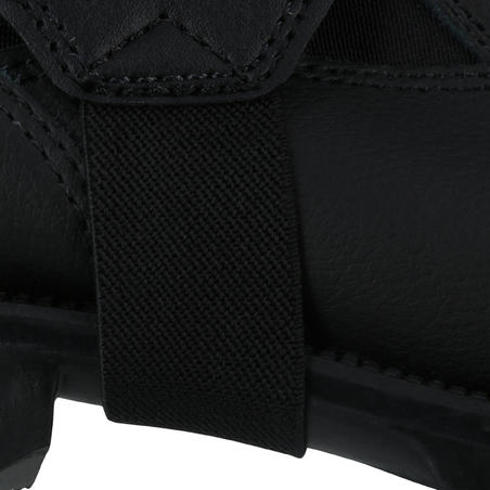 Adult Horse Riding Synthetic Half Chaps Classic - Black
