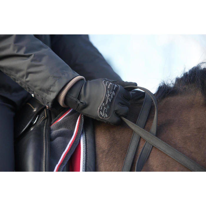 Gants équitation adulte KIPWARM - 96556