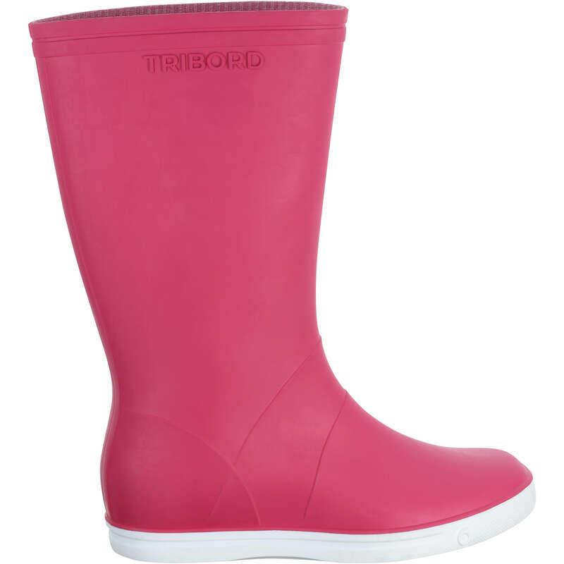BOOTS ADULTS Sailing - Sailing 100 A Boots - Pink TRIBORD - Sailing