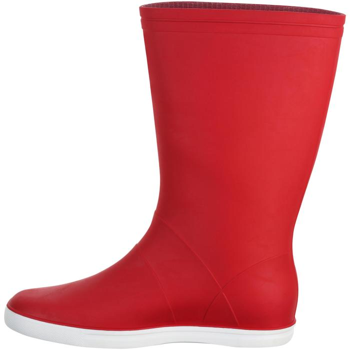 Bottes de pluie adulte SAILING 100 Rouge
